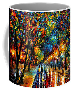 When Dreams Come True - Palette Knlfe Landscape Park Oil Painting On Canvas By Leonid Afremov Coffee Mug
