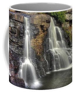 Coffee Mug featuring the photograph When Light And Water Falls-1a Blackwater Falls State Park Wv Autumn Mid-morning by Michael Mazaika