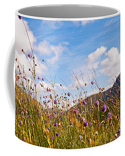 When The Sun Is Shining Everything Around Smiling Towards. Scotland Coffee Mug