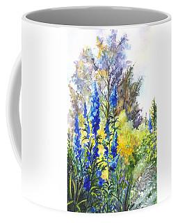 Where The Delphinium Blooms Coffee Mug by Carol Wisniewski