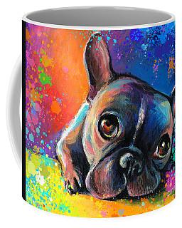 Whimsical Colorful French Bulldog  Coffee Mug