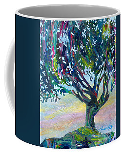 Whimsical Tree Pastel Sky Coffee Mug by Denise Hoag
