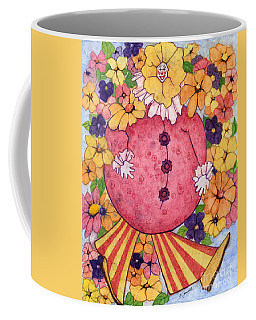 Coffee Mug featuring the painting Whimsy On Parade  by Barbara Jewell
