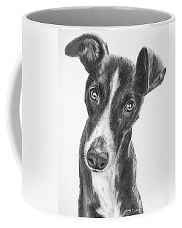 Whippet Black And White Coffee Mug