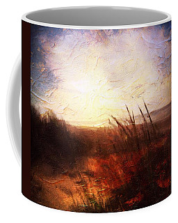 Coffee Mug featuring the painting Whispering Shores By M.a by Mark Taylor