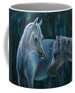 Coffee Mug featuring the painting Whispering... by Xueling Zou