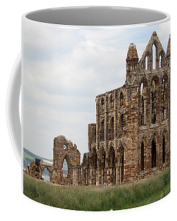 Coffee Mug featuring the photograph Whitby Abbey by Susan Leonard
