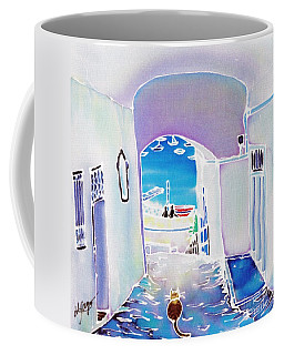 White And Blue 1 Coffee Mug