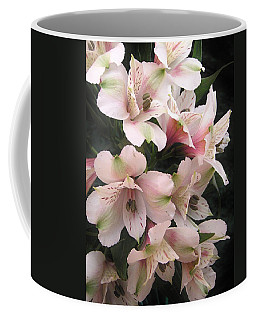 Coffee Mug featuring the photograph White And Pink Peruvian Lilies by Diane Alexander