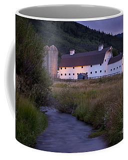 Coffee Mug featuring the photograph White Barn by Brian Jannsen