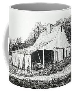 White Barn On Bluff Road Coffee Mug