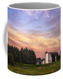 White Barn Sunset Coffee Mug