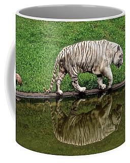 White Tiger Reflections Hawaii Coffee Mug by Venetia Featherstone-Witty