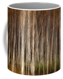 White Birch Abstract Coffee Mug by John Vose