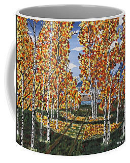White Birch Reservoir  Coffee Mug