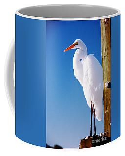 Great White Heron Coffee Mug by Vizual Studio