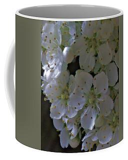 White Blooms Coffee Mug