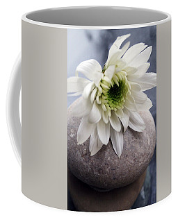 White Blossom On Rocks Coffee Mug