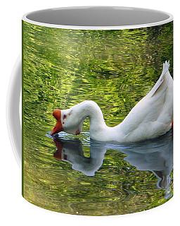 White Chinese Goose Bow Coffee Mug