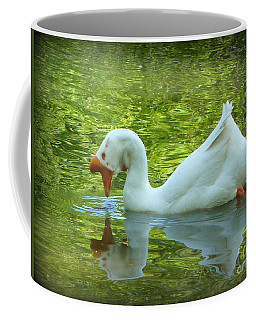 White Chinese Goose Curtsy  Coffee Mug