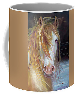 White Chocolate Stallion Coffee Mug by Karen Kennedy Chatham