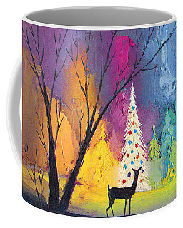 White Christmas Tree Coffee Mug