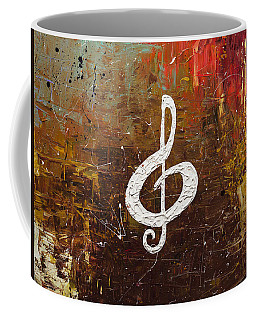 White Clef Coffee Mug