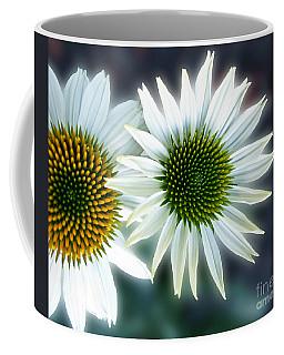 White Conehead Daisy Coffee Mug