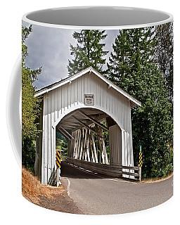 Coffee Mug featuring the photograph White Covered Bridge Hannah Bridge Art Prints by Valerie Garner