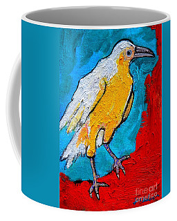 White Crow Coffee Mug by Ana Maria Edulescu