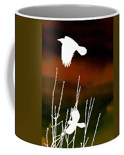 White Crow And The Bluejay Coffee Mug