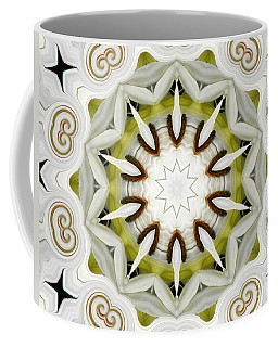 Coffee Mug featuring the photograph White Daisies Kaleidoscope by Rose Santuci-Sofranko