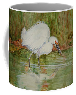 White Egret Wading  Coffee Mug