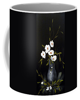 White Flowers In A Vase Coffee Mug