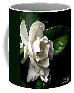 Coffee Mug featuring the photograph White Gardenia by Rose Santuci-Sofranko