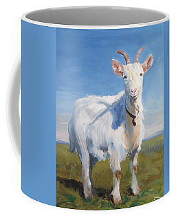 White Goat Coffee Mug