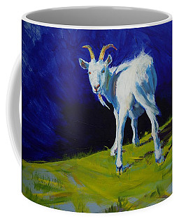 White Goat Painting Coffee Mug