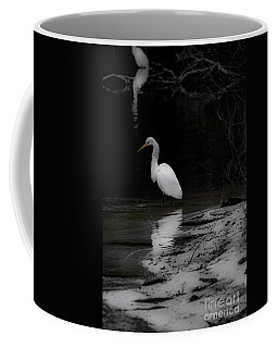 White Heron Coffee Mug