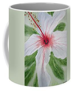 White Hibiscus Flower Coffee Mug
