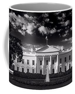 White House Sunrise B W Coffee Mug
