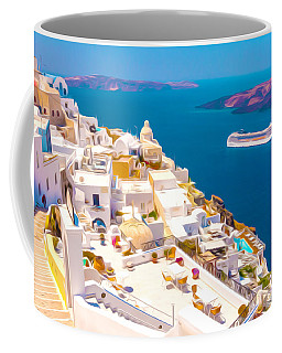 White Houses Of Santorini Coffee Mug