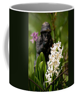White Hyacinth In The Garden Coffee Mug