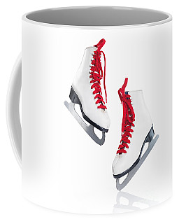 White Ice Skates With Red Laces Coffee Mug