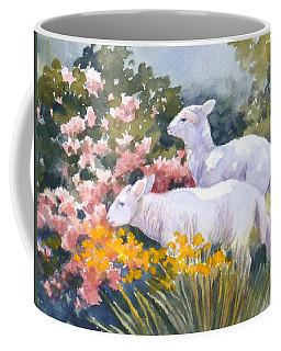 White Lambs In Scotland Coffee Mug