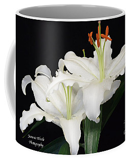 Coffee Mug featuring the photograph White  Lilies by Jeannie Rhode