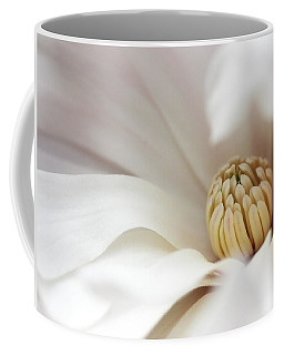 White Magnolia Coffee Mug by Trina  Ansel