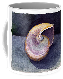 Coffee Mug featuring the painting White Nautilus by Katherine Miller