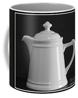 Coffee Mug featuring the photograph White On Black by Victoria Harrington