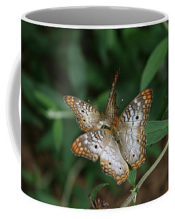 White Peacock Butterflies Coffee Mug