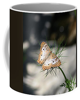 White Peacock Coffee Mug